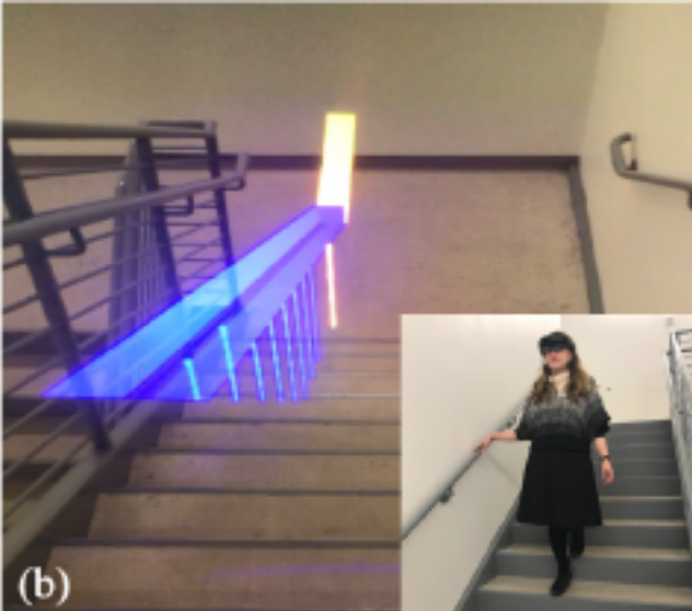 smartglasses to facilitate stair navigation for PLV